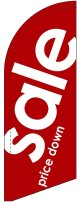 sale(赤) スウィングバナー(W660×H1840mm) 1枚(ポール1本付)