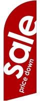 sale(赤) スウィングバナー(W860×H2640mm) 10枚セット(ポール10本付)