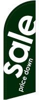 sale(緑) スウィングバナー(W860×H2640mm) 1枚(ポール1本付)