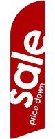 sale(赤) スウィングバナー(W660×H2640mm) 10枚セット(ポール10本付)