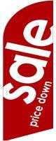 sale(赤) スウィングバナー(W960×H3540mm) 1枚(ポール1本付)