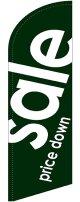 sale(緑) スウィングバナー(W860×H3540mm) 10枚セット(ポール10本付)