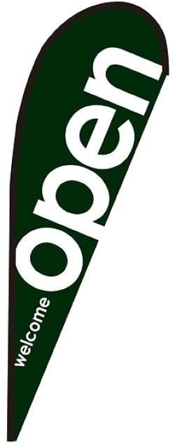 画像1: open緑 Pバナー(中サイズ)