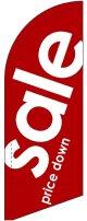 sale(赤) スウィングバナー(W660×H1840mm) 10枚セット(ポール10本付)