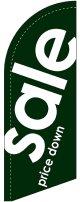sale(緑) スウィングバナー(W660×H1840mm) 10枚セット(ポール10本付)