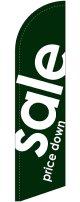 sale(緑) スウィングバナー(W660×H2640mm) 10枚セット(ポール10本付)