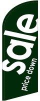 sale(緑) スウィングバナー(W960×H3540mm) 1枚(ポール1本付)