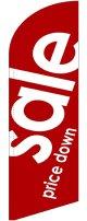 sale(赤) スウィングバナー(W860×H3540mm) 1枚(ポール1本付)